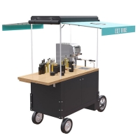 Buy cheap Solid Wood Table 220V 4500W 300KG Beverage Vending Cart product