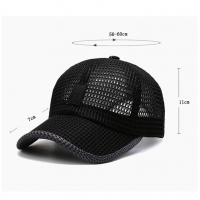 Buy cheap Black Color Breathable Adult Trucker Hats For Hot Weather product