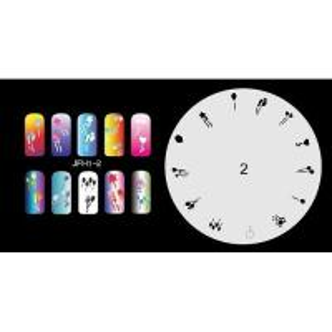 Buy cheap Airbrush nail stencil 1-2 product