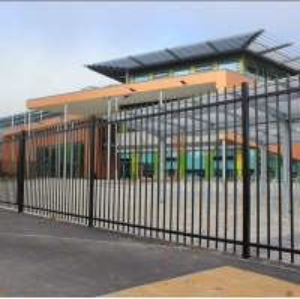 Buy cheap Residential Galvanized Tubular Steel Garrison Fence product