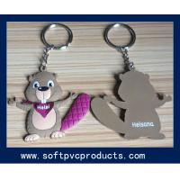 Buy quality Colorful Lovely Cartoon Picture Soft PVC Custom Key Chains with Metal Ring at wholesale prices