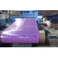 Buy cheap Dip-Cold PPGI Coil For Construction , Color Coated Prepainted Galvanized Steel Coil product