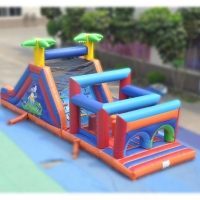 Buy cheap Inflatable obstacle course hire inflatable course giant inflatable obstacle from wholesalers