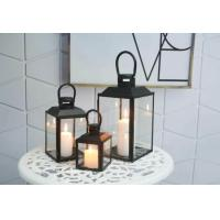 Buy cheap Home Decoration Tabletop Candle Holder Metal Lantern with Battery Operated LED from wholesalers