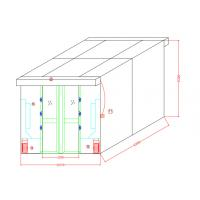 Buy cheap Auto Sliding Doors Stainless Steel Air Shower For Goods With Width 635mm Cabinet from wholesalers