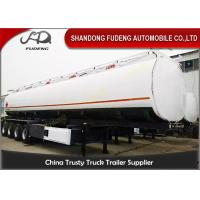 China 4 Axles 60000 Liters Fuel Tanker Semi Trailers Mobile Tankers For Oil Transporting on sale