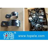 China IMC Conduit And Fittings,Zinc Plated Steel One Hole EMT / IMC Conduit Straps/UL listed galvanized steel Rigid one hole s on sale