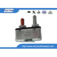 Buy cheap Stud / Bracket Mount Motor 24 Volt 50 Amp Circuit Breaker With Metal Housing product