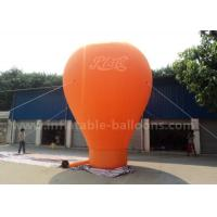 Orange / Red / Blue Ground Custom Inflatable Balloons 6m 420D Oxford Cloth Manufactures