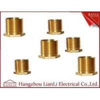 Buy quality Brass Male Bush Brass Electrical Wiring Accessories Long Hexagon Head GI Thread at wholesale prices