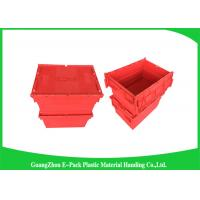 China Large Volume Stackable Storage Plastic Containers with Attached Lids 600*400*365mm on sale