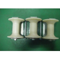 Buy cheap Pithead Spray Painting Steel Three Wheel Cable Roller from wholesalers