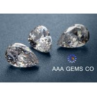 Decoration High Hardness Pear Shaped Moissanite For Rings / Earrings Manufactures
