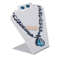 Buy cheap Black Jewellery Necklace Display Stands Two Holes For 2 Necklace And 1 Set Earrings product