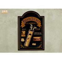 Buy cheap Golf Club Wall Art Signs Antique Wood Wall Plaques Pub Sign Black Color product