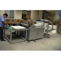 Buy cheap 3KW Fabric Rolling Machine , Easy Operation Fabric Roll Slitting Machine product