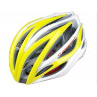Buy quality SV888 XL Sports Adult Bicycle Helmets Yellow With Carbon Reinforcement at wholesale prices
