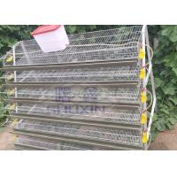 Buy cheap Galvanized Commercial Quail Laying Cage , Quail Battery Cages Automatic Feeding from wholesalers