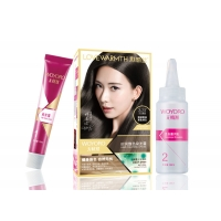 Buy cheap Customized Logo 50ml Hair Color Kit Brown Color 100% Gray Coverage product