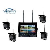 China 2.4G 4CH 7 inch Wireless cameras DVR monitor system with 128GB SD Card on sale