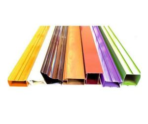 Buy cheap 6063 Colorful Powder Coated Aluminium Extrusions Fabricated Profiles Customize product