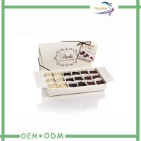 Buy quality Save Space White Foldable Paper Box For Chocolate Packaging at wholesale prices