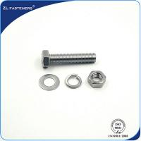 Buy cheap SS304 SS316 A2-70 A4-80 Stainless Steel Hex Bolts Half Thread Full Thread product