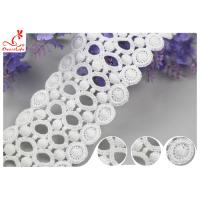 China Lace Supplier Beautify White Circle Embroidery Water Soluble Lace With 100% Cotton on sale