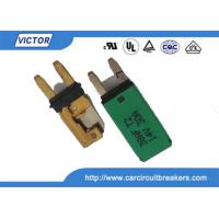Buy cheap Blade Fuse Manual / Auto Reset Circuit Breaker 15A 28Vdc With Ignition Protected product