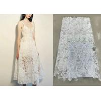Buy cheap Shiny Sequin Embroidered Floral Beaded Bridal Lace Fabric Light And Transparent Texture product