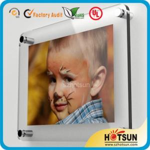 Buy cheap Glass wall mounted acrylic photo frames, acrylic wall mount picture frames product