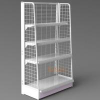 Buy cheap White Metal Display Racks / Floor Displays Retail Snack Daily Commodity Promotion product