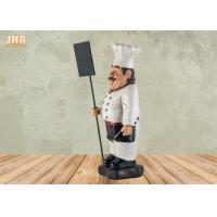 Buy cheap Decorative Fat Chef Statue Polyresin French Chef Figurine With Wooden Chalkboards product