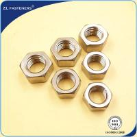Buy cheap 18-8 A4-80 , SS316 Steel Hex Nut For Industrial Engineering Components product