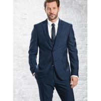 Buy cheap Mens 3 Piece Suits with Single Back Vent / Customized Blue Formal Wear product