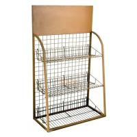 Buy cheap 3 Tiers Custom Metal Display Shelf Logo Printing Acceptable for Exhibiting product