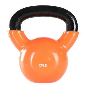 Buy cheap Vinyl Coated Gym Kettlebell 24 Kgfor Cross Training Swings Body Workout product