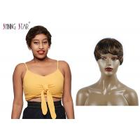 Buy cheap Piano Colored Short Bob Wigs 100% Human Hair Small Curly Glossy And Clean product