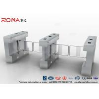 Buy cheap Gym Swing Barrier Gate Electronic Stainless Steel Turnstile Double Swing IP 54 LED Indicator product