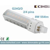 Buy quality 8W G24D/Q LED PL tubes replace 18W CFLs used For Commercial Lighting at wholesale prices