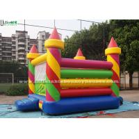 Colorful Birthday Party Inflatable Jumping Castles in Candy Shape , Red / Green / Yellow / Blue