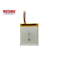 Buy cheap High Energy Density POS Machine Battery , 3.7V 2200mah Rechargeable Battery product