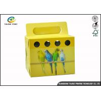 Buy cheap Colorful Printing Cardboard Gift Boxes Foldable Space Saving For Birds product