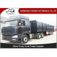 Buy cheap Top - Class Steel Frames 3 Axles Side Wall Semi Trailer With Advanced LED Light product
