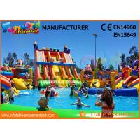 Buy cheap Outdoor Inflatable Water Parks Slide With Pool One Year Warranty product