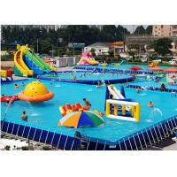 Buy cheap Unitized Amusement Inflatable Water Parks , Blow Up Water Slide With Bracket from wholesalers