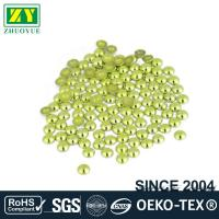 High Color Accuracy Flat Back Metal Studs Good Stickness With Even Shinning Facets
