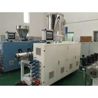 Buy cheap PLC Control HDPE / PE Pipe Production Line 2.2KW Cutter Power 12 Months Warranty product