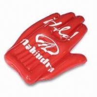 Buy cheap 41 x 80cm Inflatable Hand, Made of PVC, Suitable for Promotional Purposes product