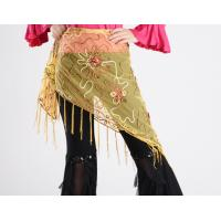 Buy cheap Mesh Embroidery Triangle Belly Dance Hip Scarf With Fringes from wholesalers